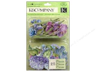 K & Company Dimensional Stickers: K&Company Layered Accents Tim Coffey Cottage Garden Cool Mix