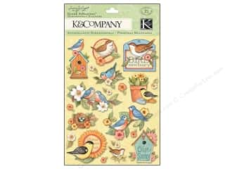 Flowers / Blossoms Animals: K&Company Grand Adhesions Susan Winget Spring Blossom Bird