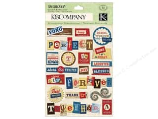 2013 Crafties - Best Adhesive: K&Co Grand Adhesions Americana Word