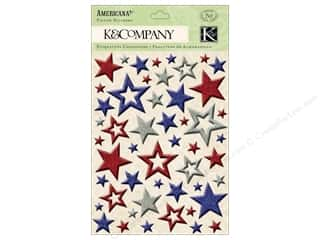 K&Co Sticker Pillow Americana Glitter Star