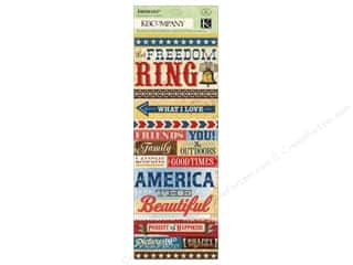 K&amp;Co Sticker Embossed Americana Word