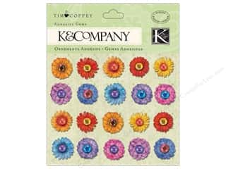 K&amp;Co Adhesive Gems TC Cottage Garden Flowers