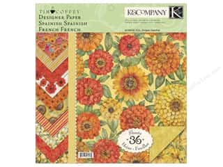 K&amp;Co Paper Pad 12x12 TC Cottage Garden Designer