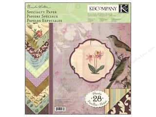 K&amp;Co Paper Pad 12x12 BW Flora &amp; Fauna Specialty