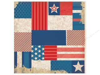 K&Co Paper 12x12 Americana Pattern Collage (25 sheets)
