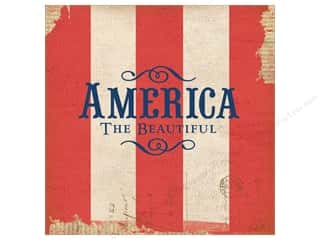 K&amp;Co Paper 12x12 Americana America The Beautiful (25 sheets)