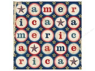 Clearance Blumenthal Favorite Findings: K&Co Paper 12x12 Americana America (25 sheets)
