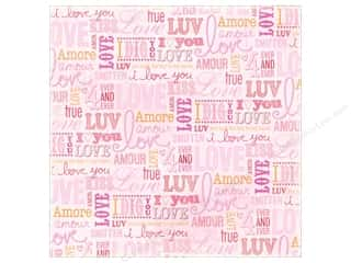 K&amp;Co Paper 12x12 KP Valentine Foil Love Words (12 sheets)