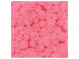 K&amp;Co Paper 12x12 KP Valentine Glitter Roses (12 sheets)