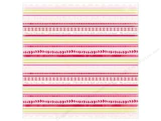 K&amp;Co Paper 12x12 KP Valentine Stripe (25 sheets)