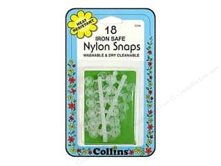 Sewing Construction Clear: Nylon Snaps by Collins Clear 18 pc.