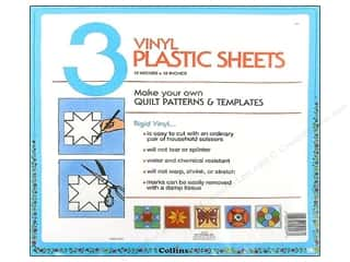 "quilting notions: Collins Vinyl Template Sheets 12""x 12"" 3 pc"