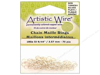 Artistic Wire Jump Rings 18 ga. 9/64 in. Silver 70 pc.