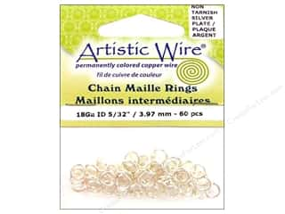 Artistic Wire $5 - $6: Artistic Wire Chain Maille Jump Rings 18 ga. 5/32 in. Silver 60 pc.