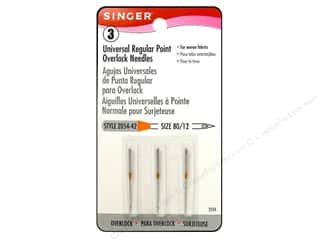 Singer Singer Machine Needle: Singer Machine Needle Universal Regular Point Overlock Size12 3pc