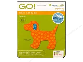 AccuQuilt Go Die Gingham Dog 6x6&quot;