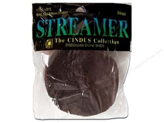 Cindus Crepe Streamer 1.75&quot;x 81&#39; Brown (3 pieces)