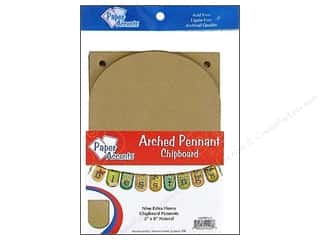 "Paper Accents Chipboard Pennants Arched 5""x 9"" Natural 9pc"