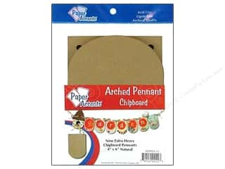 "Paper Accents Chipboard Pennants Arched 4""x 6"" Natural 9pc"