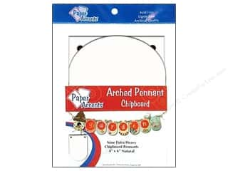 Chipboard Pennants 4 x 6 in. Arched 9 pc. White