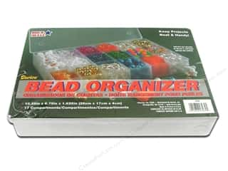 "Weekly Specials Sewing Organizers: Darice Organizer Bead 17 Comp Clear 10.25""x 6.75"""