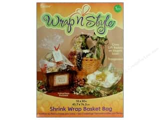 "shrink: Darice Shrink Basket Bag 18""x 30"" Clear"