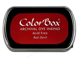 ColorBox Archival Dye Ink Pad Full Size Red Devil