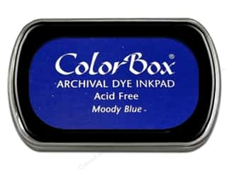 ColorBox Blue: ColorBox Archival Dye Inkpad Full Size Moody Blue