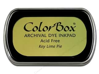 Clearance ColorBox Premium Dye Ink Pad: ColorBox Archival Dye Inkpad Full Size Key Lime Pie