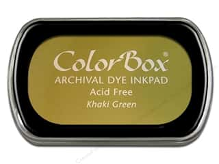 ColorBox Archival Dye Ink Pad Full Size Khaki Green