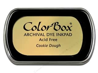 Clearance ColorBox Premium Dye Ink Pad: ColorBox Archival Dye Inkpad Full Size Cookie Dough