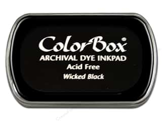 Stamping Ink Pads Burgundy: ColorBox Archival Dye Inkpad Full Size Wicked Black