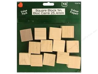 Lara&#39;s VP Wood Square Block 1&quot; 13pc