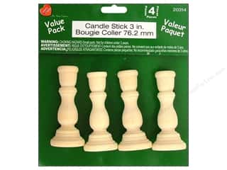 Lara's VP Wood Candle Stick 4pc