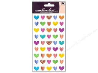Valentine's Day Gifts Candlemaking: EK Sticko Stickers Repeats Colorful Heart