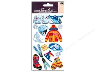 Captions EK Sticko Stickers: EK Sticko Stickers Skiing