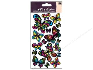 Insects Stickers: EK Sticko Stickers Stained Glass Butterfly