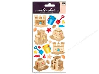 Beach & Nautical EK Sticko Stickers: EK Sticko Stickers Sand Castles