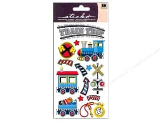 Transportation Stickers: EK Sticko Stickers Trains