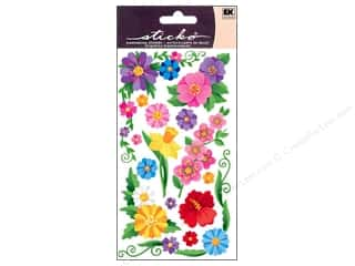 EK Sticko Stickers Dewey Flowers