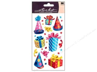Birthdays $2 - $4: EK Sticko Stickers Party Hats and Presents