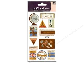 EK Success Vacations: EK Sticko Stickers World Class Traveler