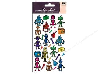 Toys Black: EK Sticko Stickers Colorful Robots