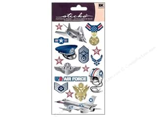 Dress Shields / Garment Shields: EK Sticko Stickers Air Force