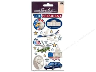 Careers & Professions Crafting Kits: EK Sticko Stickers Mr President