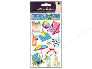 Beach & Nautical paper dimensions: EK Sticko Stickers Beach Time