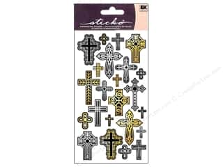 Religious Subjects $4 - $6: EK Sticko Stickers Repeats Cross