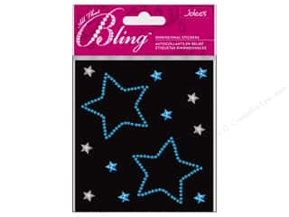 3D Stickers: EK Jolee&#39;s 3D Sticker Bling Blue Stars