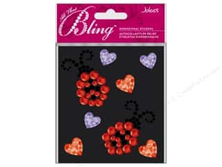 Clearance Stickers $0-$2: EK Jolee's 3D Sticker Bling Ladybugs