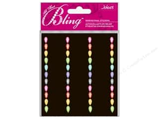 EK Jolee&#39;s 3D Sticker Bling Multi Teardrop Border